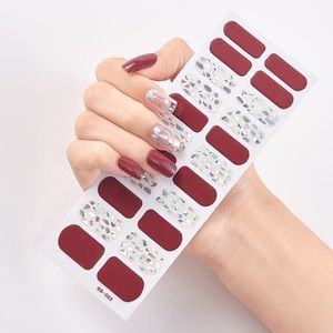 6 sheets for $20 Nail Wrap strips stickers - SS023